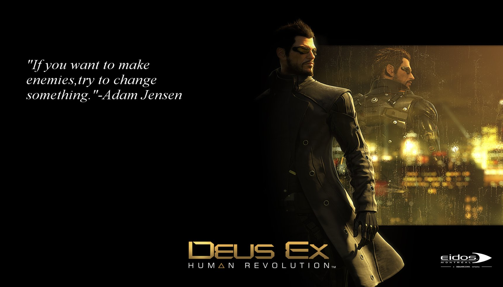 Image result for adam jensen quotes