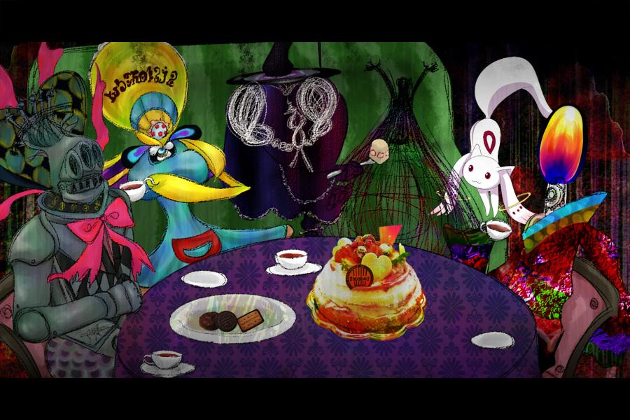 Mami Tomoe Homura Akemi Kyubey Madoka Kaname Puella Magi Magica Portable Cartoon Art