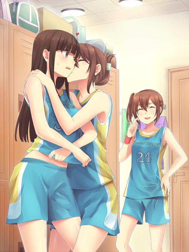 Phrase lesbian anime girls kissing opinion