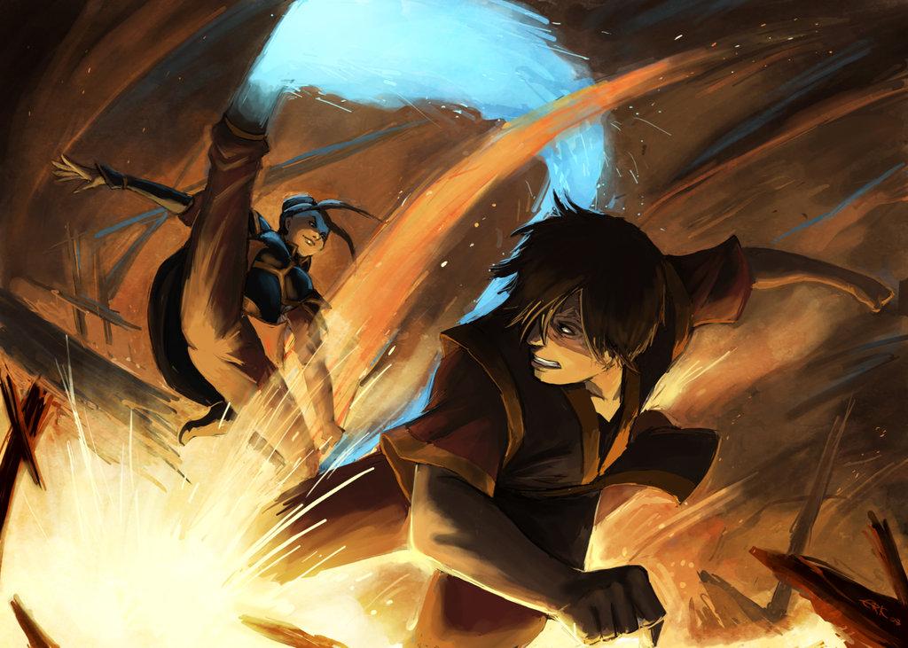 Zuko Azula Aang Katara Sokka The Last Airbender Prequel Zukos Story Anime Cg Artwork Computer