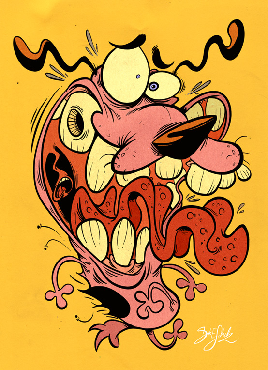 Courage The Cowardly Dog Fanart 2 Courage The Cowardly Dog Know