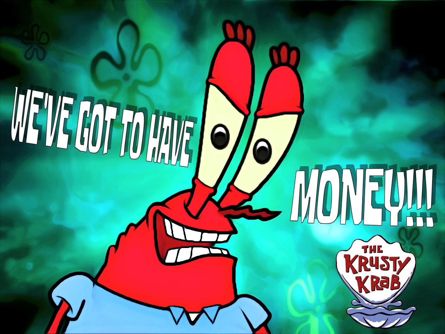 The krust krab mr krabs cartoon text fictional character