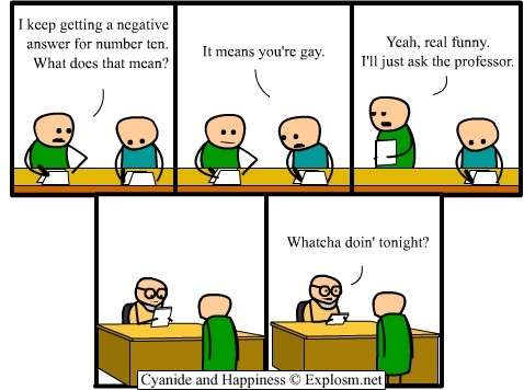 Cyanide and happiness gay