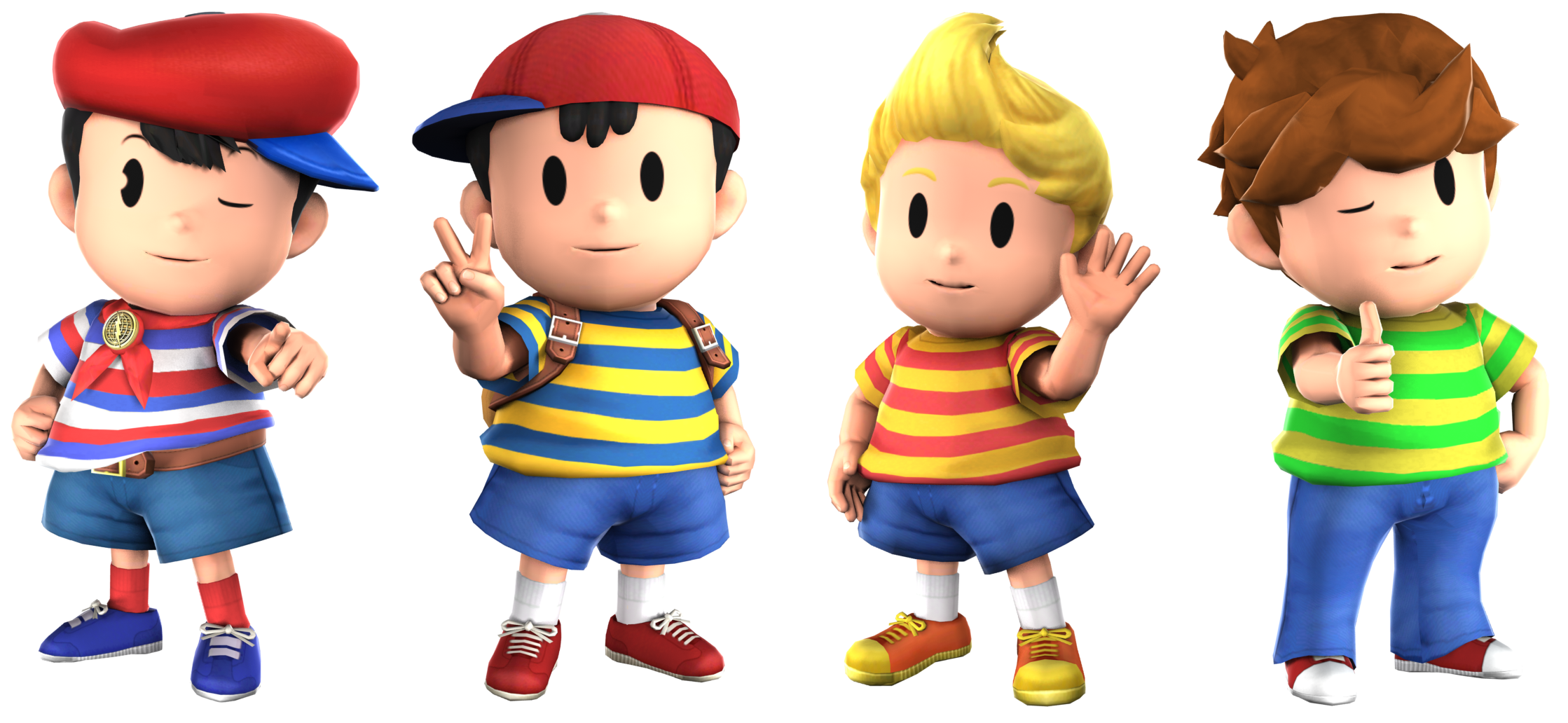 Mother main protagonists, Smash 4 style | EarthBound