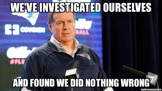 Bill Belichick Investigated This Deflategate Know Your Meme
