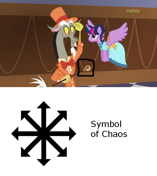 symbol of chaos my little pony friendship is magic know your meme