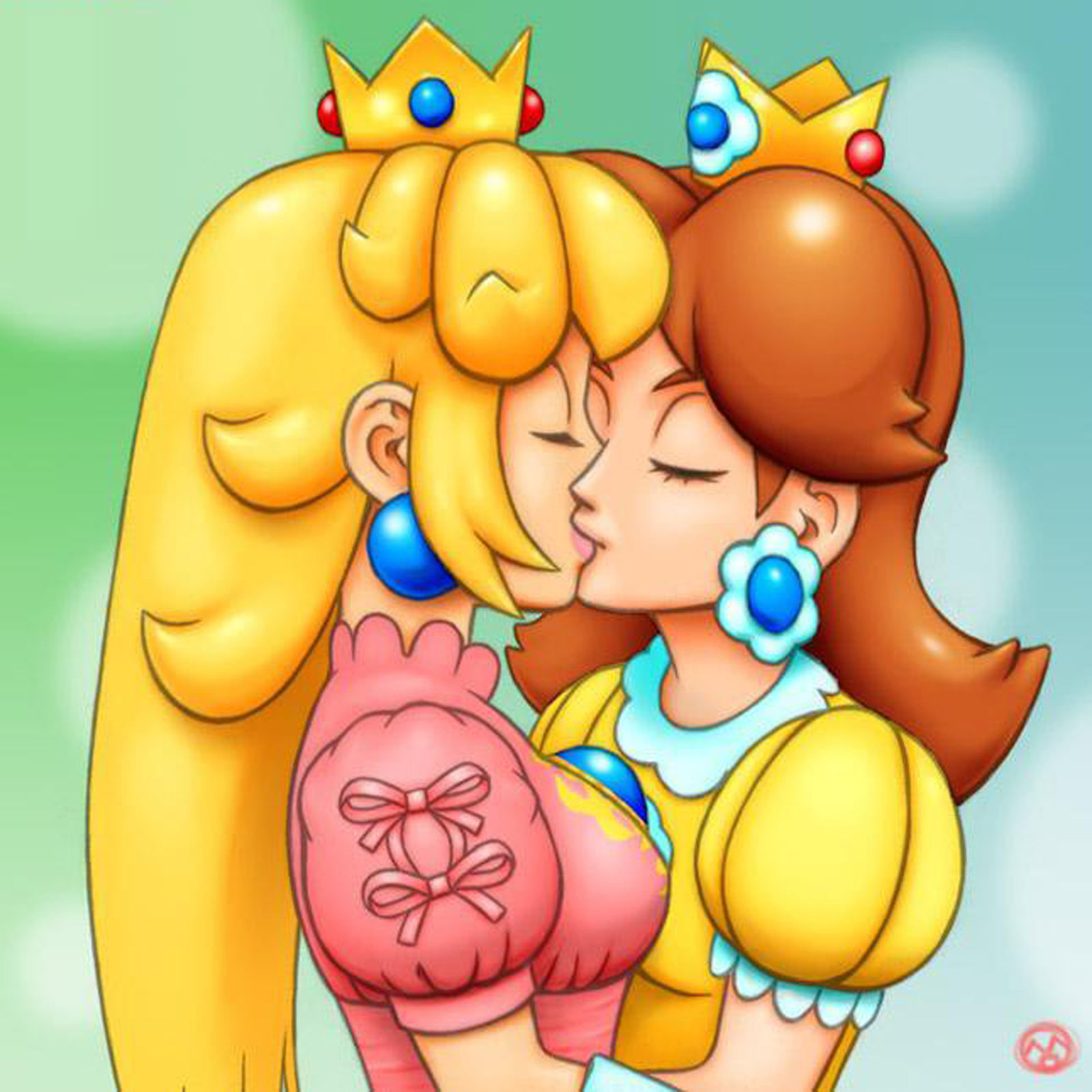 Princess peach and princess daisy