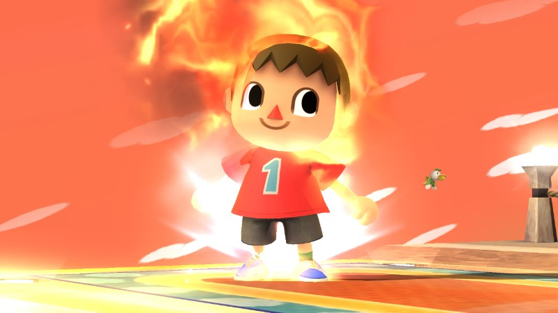 villager you re on fire super smash brothers know your meme