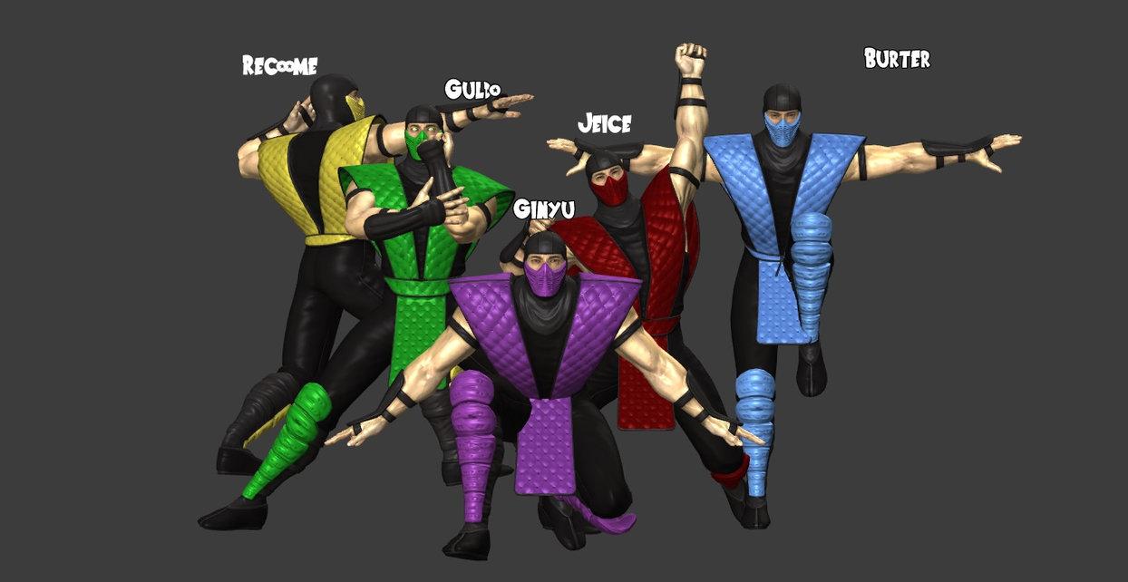 Mortal Kombat Ginyu Force Pose Tokusentai Know Your Meme