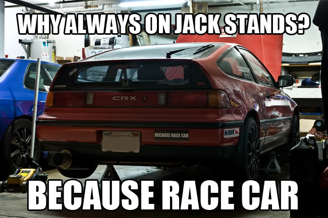 Jack stands | BECAUSE RACE CAR | Know Your Meme