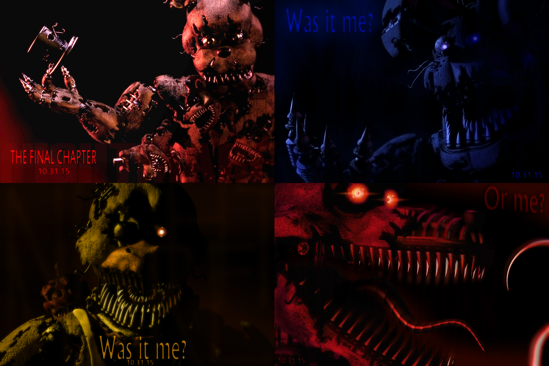 The 4 Nightmares Five Nights At Freddy S Know Your Meme