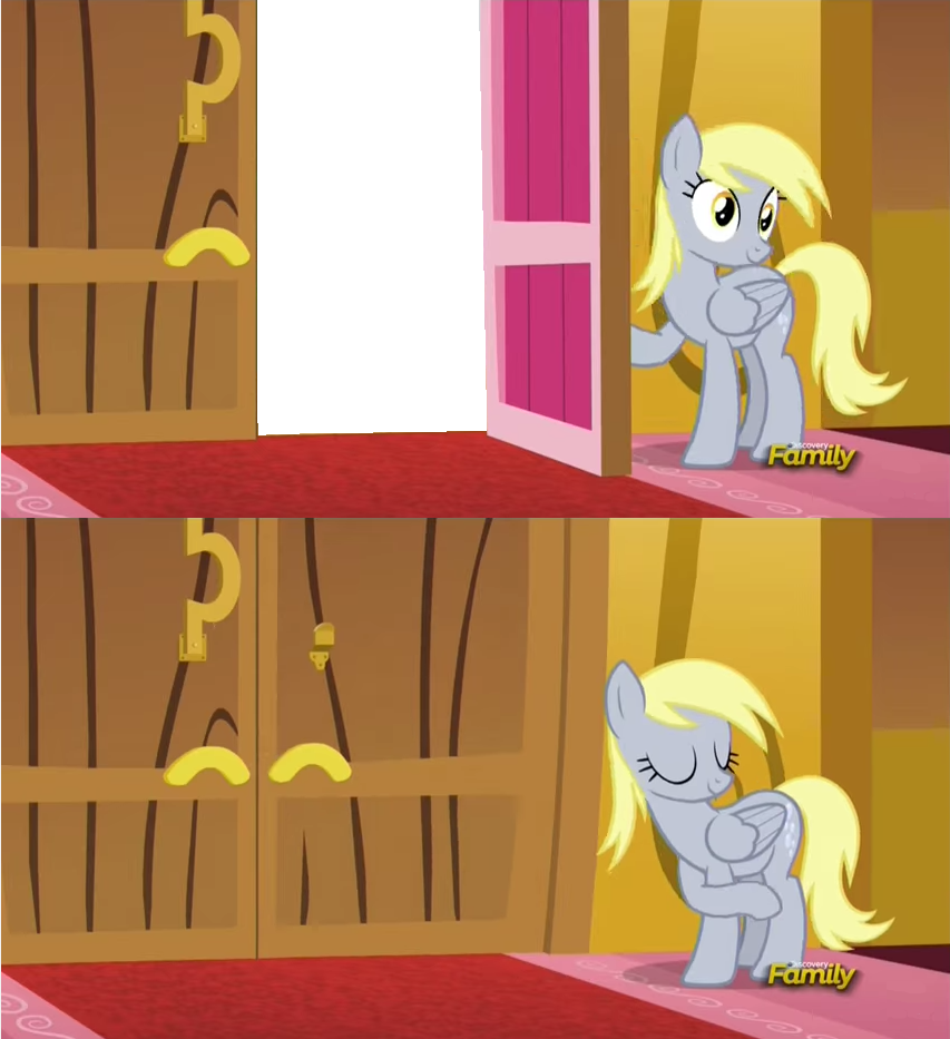 Family AJ Family Derpy Hooves Rarity Pinkie Pie cartoon red yellow mammal vertebrate text horse like  sc 1 st  Know Your Meme & Derpy Slamming the Door in Your Face | My Little Pony: Friendship is ...