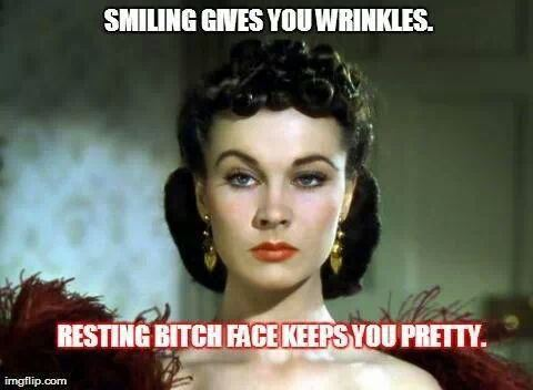 Image result for resting bitch face meme