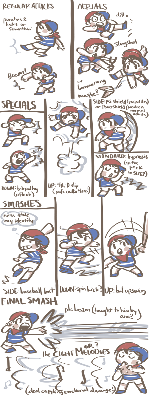 Moveset for Ninten   Super Smash Brothers   Know Your Meme