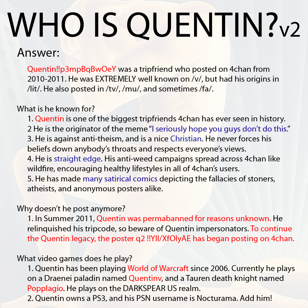 Who is Quentin? | Calle Borjesson / Quentin | Know Your Meme