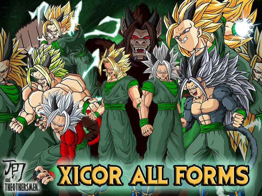 xicor all forms by dairon11 dragon ball af dragon ball hoshi
