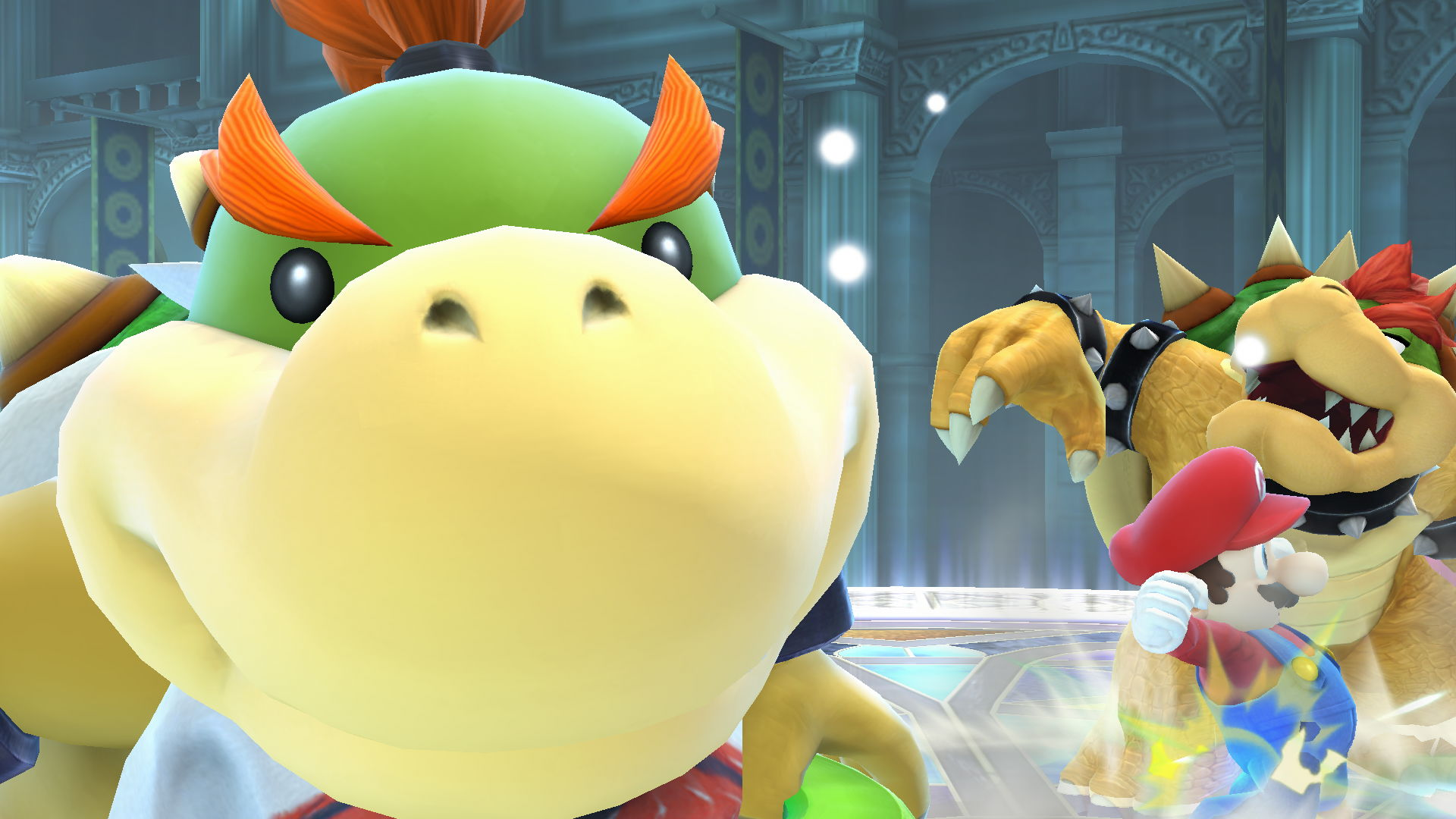 Bowser Jr Taking A Selfie Instead Of Helping His Dad Super