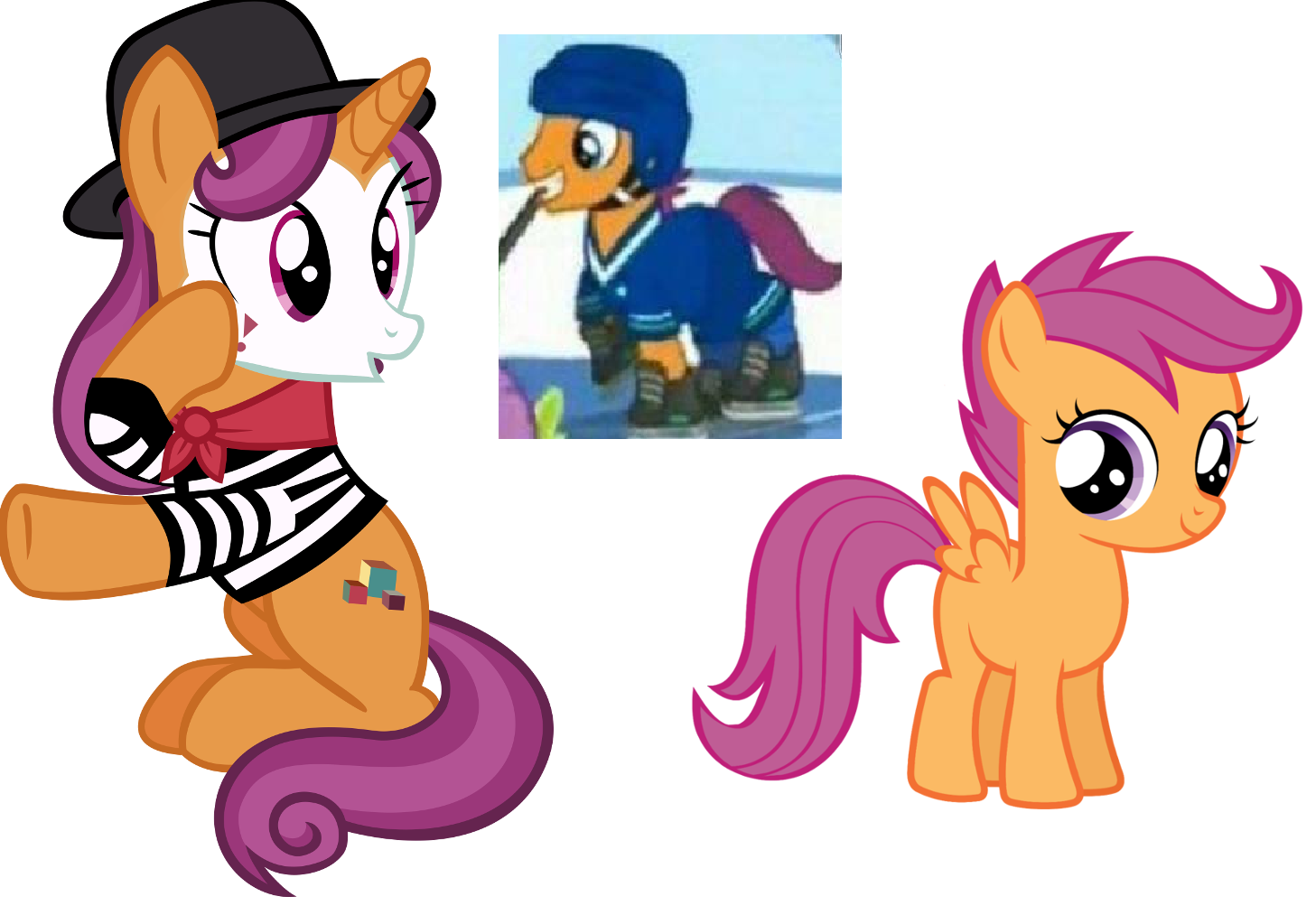 Scootaloo S Parents My Little Pony Friendship Is Magic Know Your Meme Scootaloo is called a chicken because of the episode stare master when applebloom is calling for scootaloo does not have any known crushes at this time. little pony friendship is magic