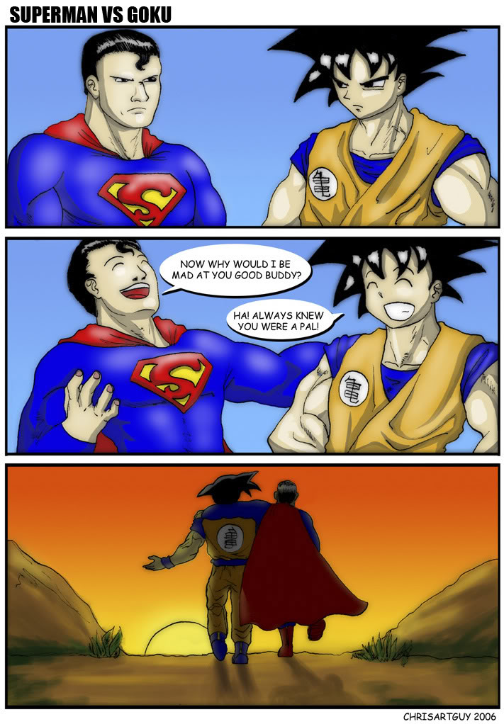 what would really happen goku vs superman know your meme