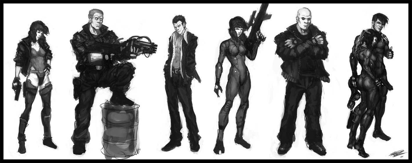 Gits Character Studies V1 By Peter Ortiz Ghost In The Shell Know Your Meme
