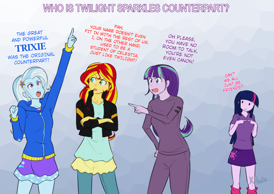 Beautiful WHO IS TWILIGHT SPARKLES COUNTERPART PAH, YouR NAME DOESNu0027T EVEN I, ON