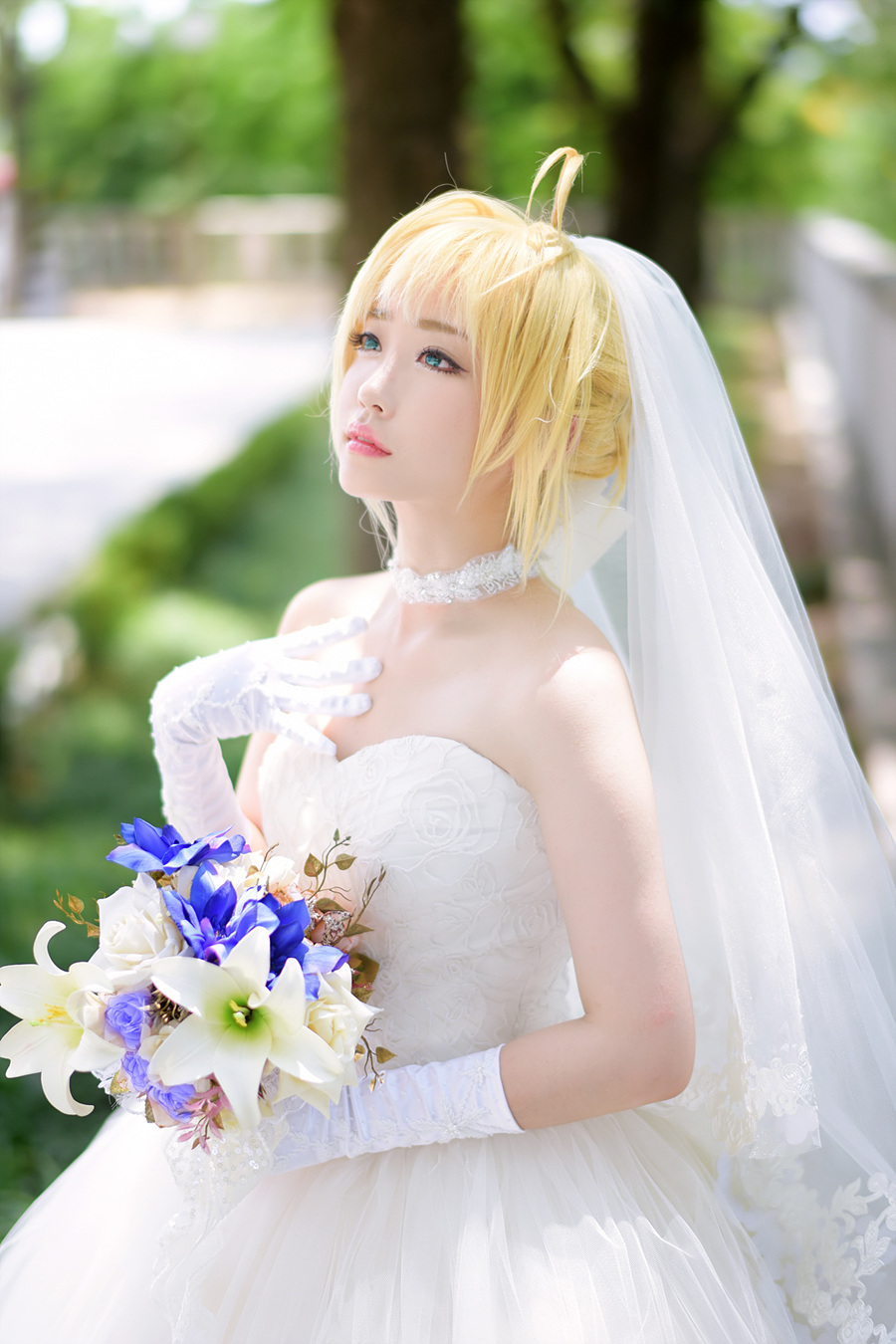 Saber Wedding Dress Cosplay 4 Cosplay Know Your Meme