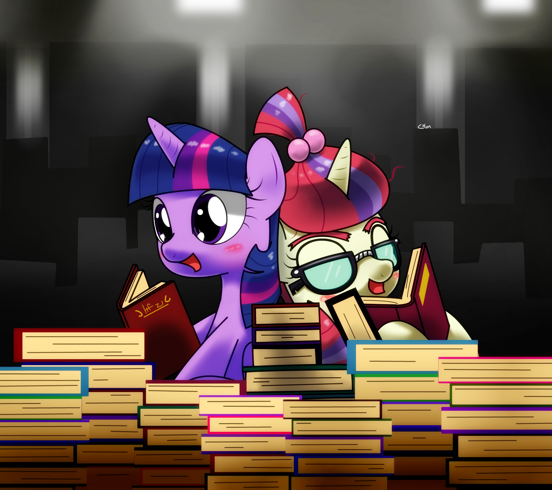 Two little book horse | My Little Pony: Friendship is Magic | Know Your Meme
