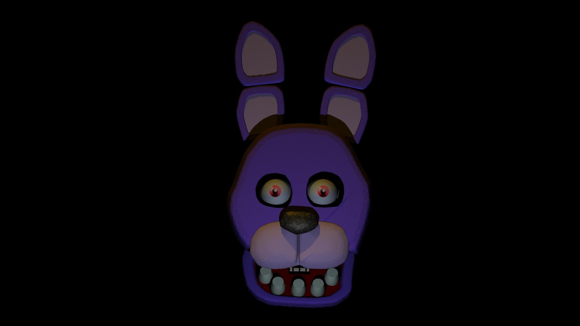 Five Nights At Freddy's Bonnie Animated bonnie head model | five nights at freddy's | know your meme
