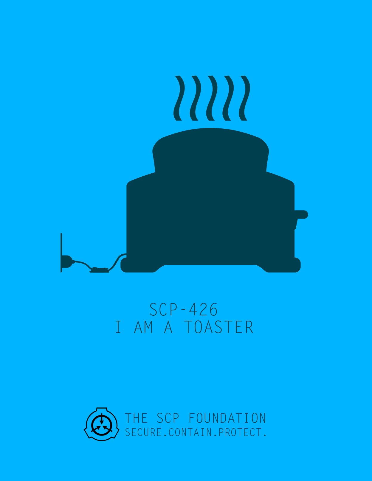 Scp 426 I Am A Toaster Poster By Dr Kens Scp Foundation Know