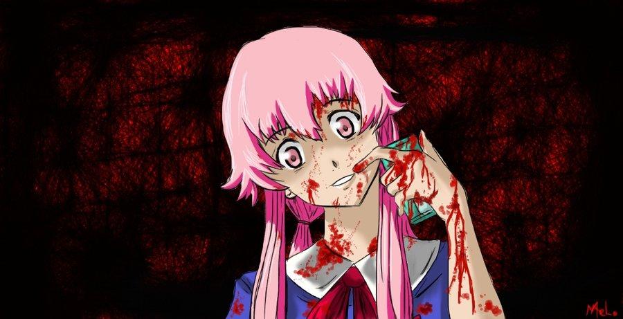 Yuno Gasai Anime Human Hair Color Fictional Character Cartoon Black Art Mangaka