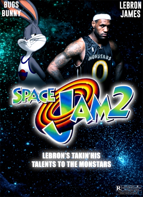buy popular 04493 f05c8 BUGS BUNNY LEBRON JAMES SPAGE LEBRON S TAKIN HIS TALENTS TO THE MONSTARS