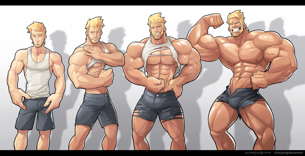 Furry muscle men