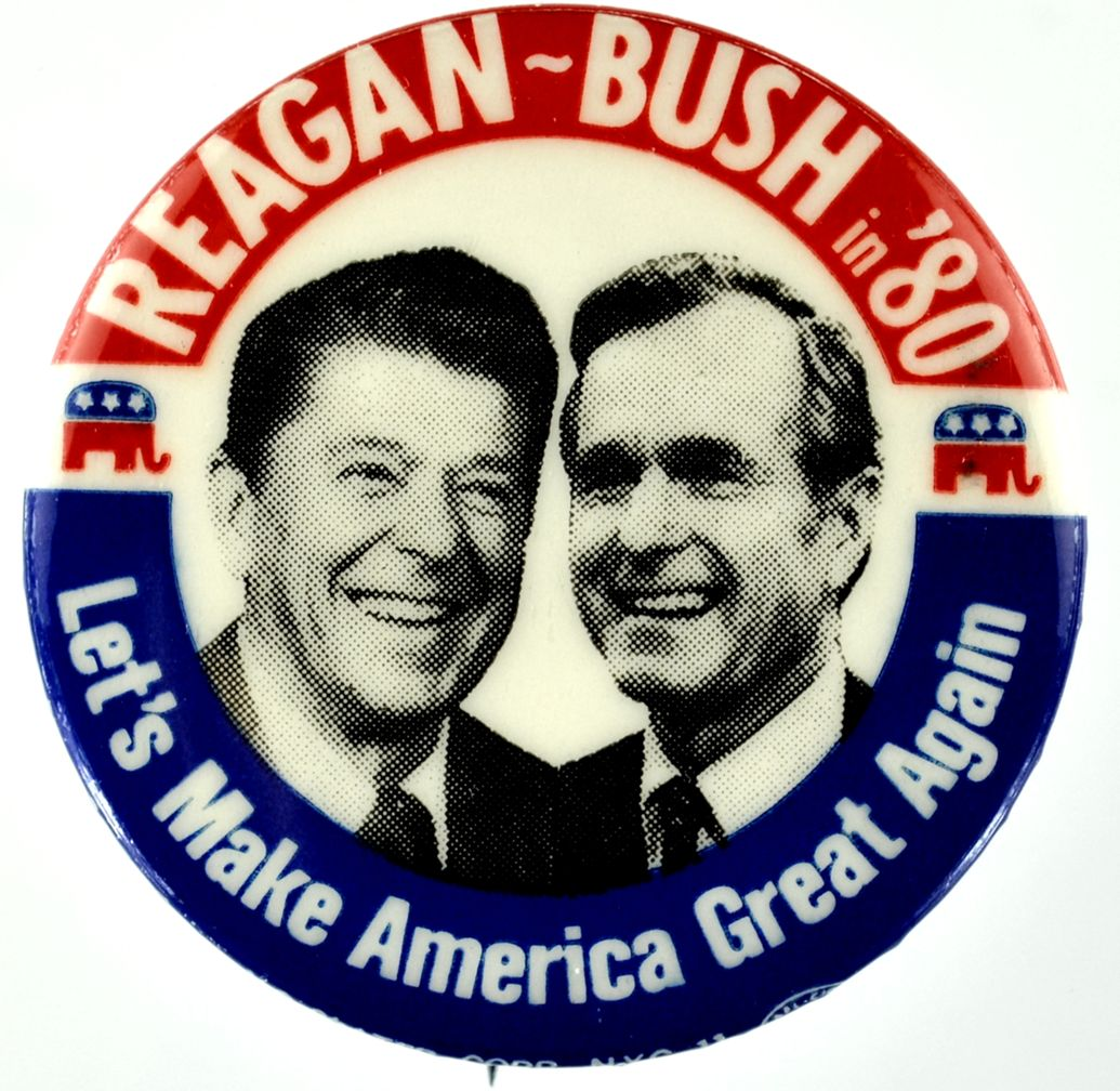 reagan 80 button make america great again know your meme
