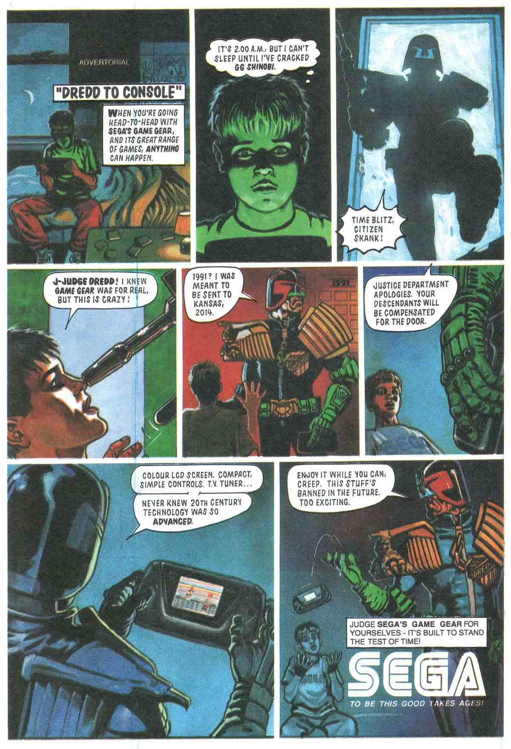 19a sega game gear ad judge dredd know your meme
