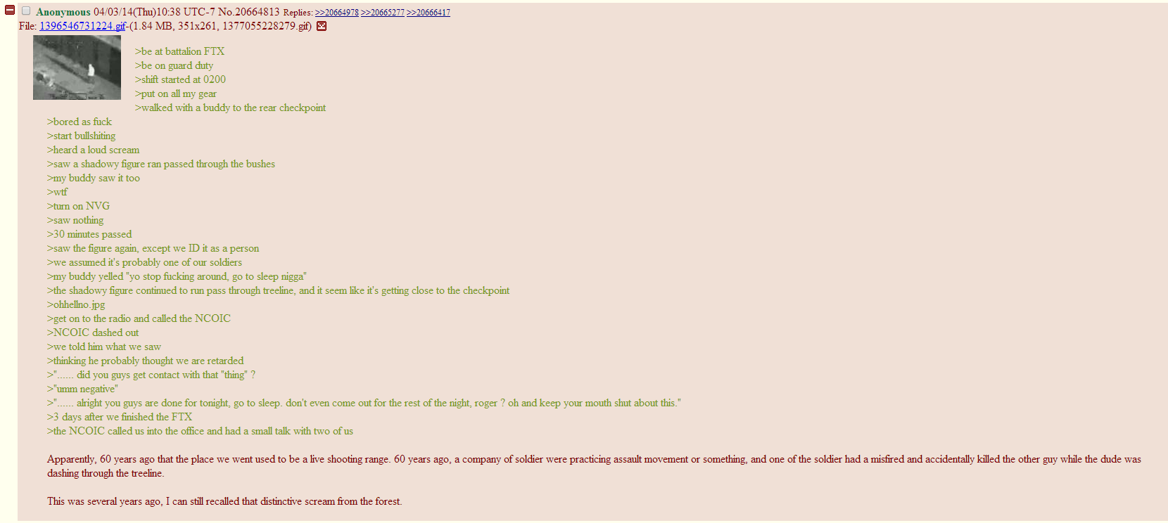 Found this on a thread about skinwalkers on /k/ | Greentext