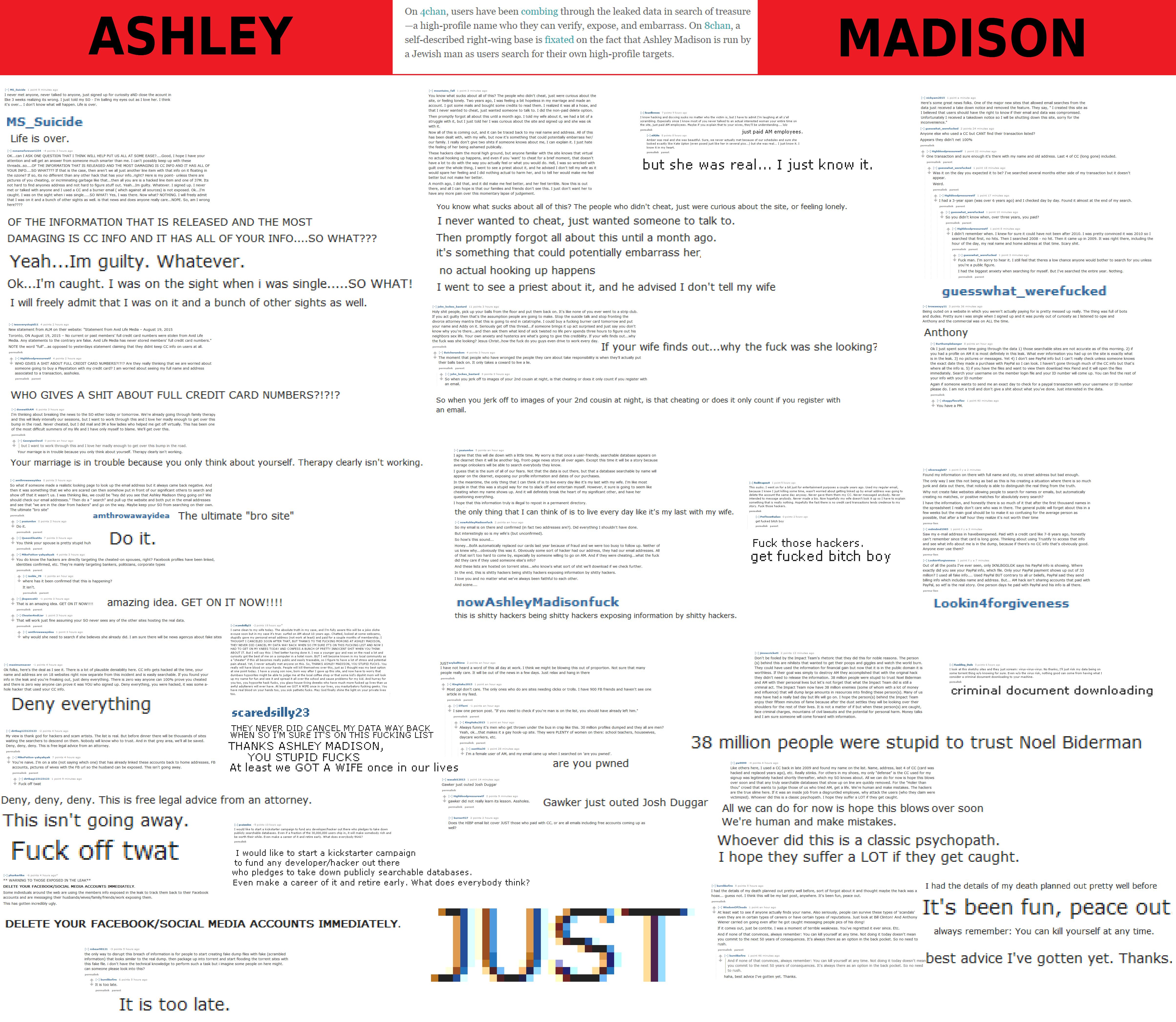 ashley madison cheaters make burner accounts on plebbit and calmly