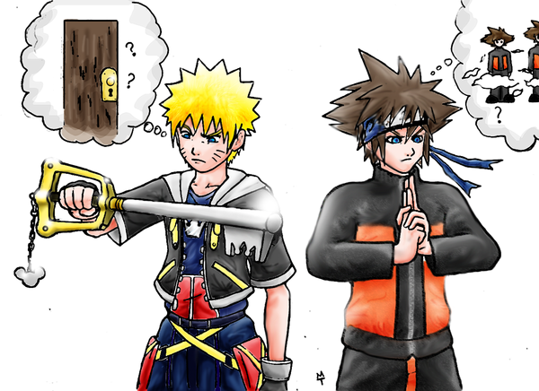 sora and naruto crossover know your meme