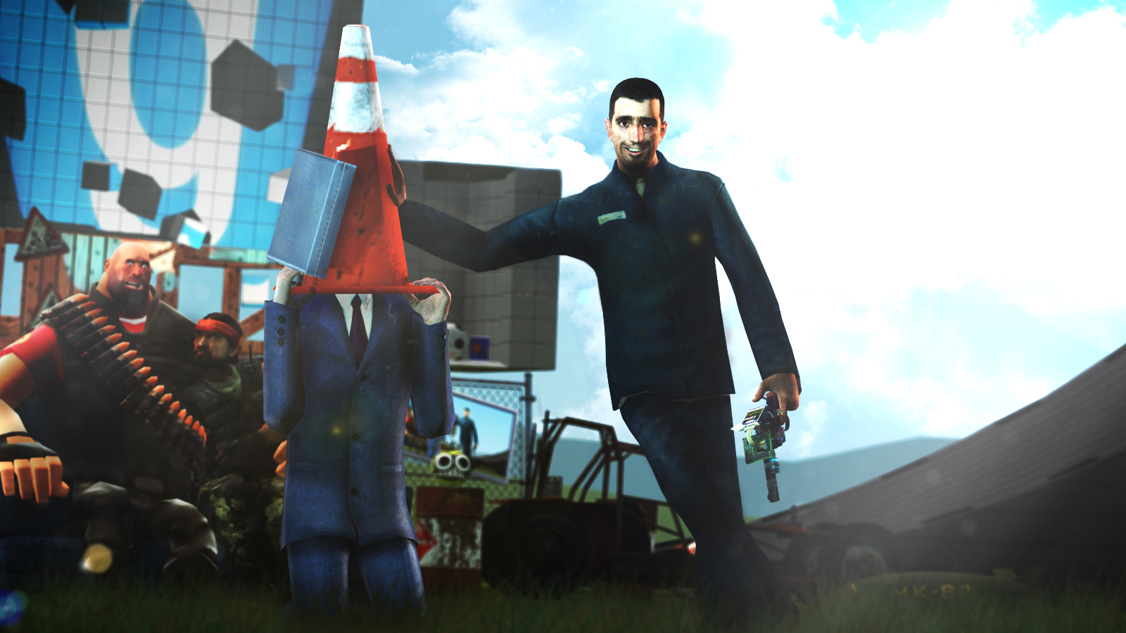 Gman with cone hat | Garry's Mod | Know Your Meme