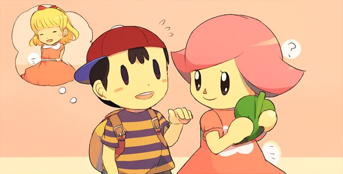 Ness and Female Villager | Super Smash Brothers | Know Your Meme