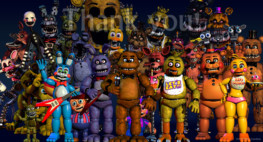 Cawthon FNaF World Five Nights at Freddy's 4 Five Nights at Freddy's 2 Five  Nights at