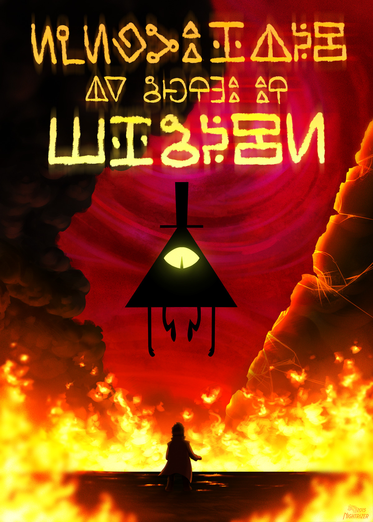 2015 IGHTRIZER Bill Cipher Mabel Pines Dipper Poster
