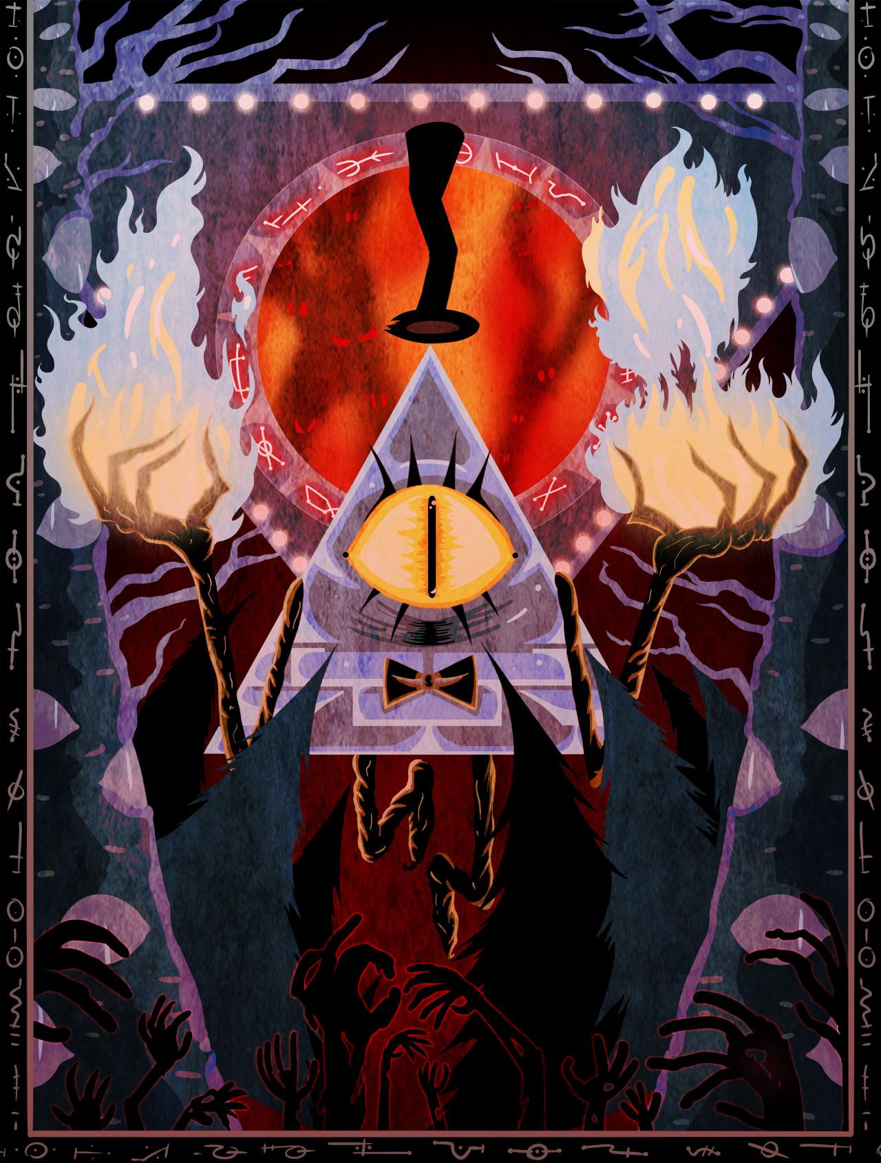 Bill Cipher Art Poster