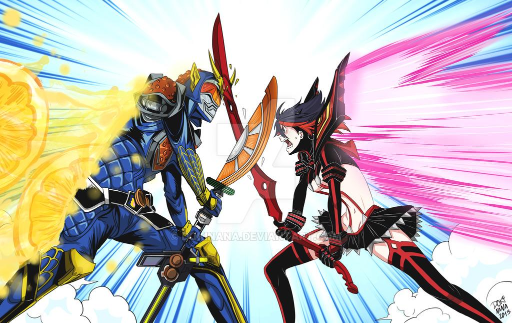 Kamen Rider Gaim Vs Ryuko Matoi Kill La Kill Know Your Meme