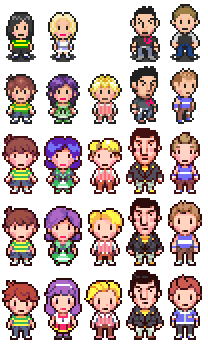 Mother 4 character sprite evolution | EarthBound / Mother | Know