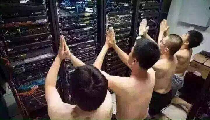 Image result for praying to servers