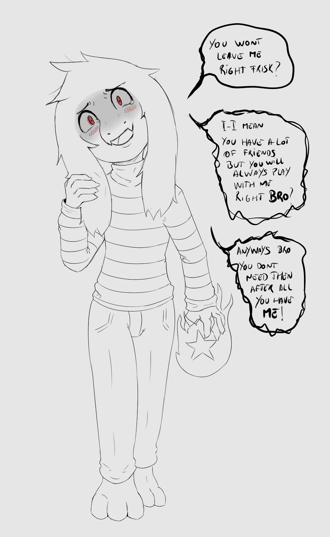 Asriel Really Doesnt Want To Let Go Undertale Know Your Meme