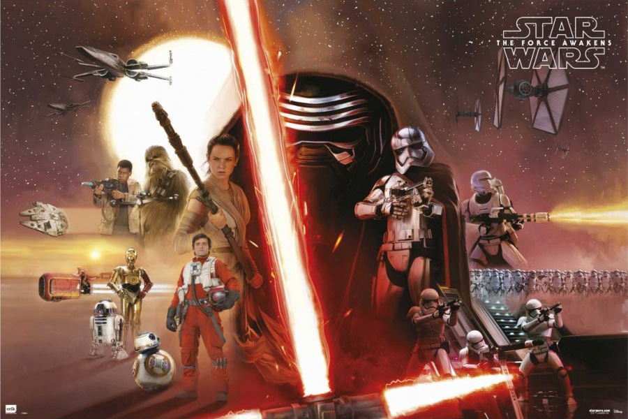 cast poster star wars episode vii the force awakens know your meme