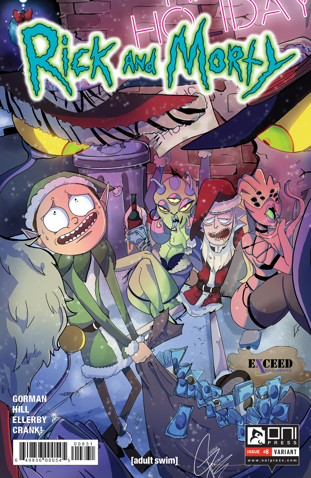 Rick And Morty Christmas.Rick And Morty Comic Christmas Special Preview Rick And