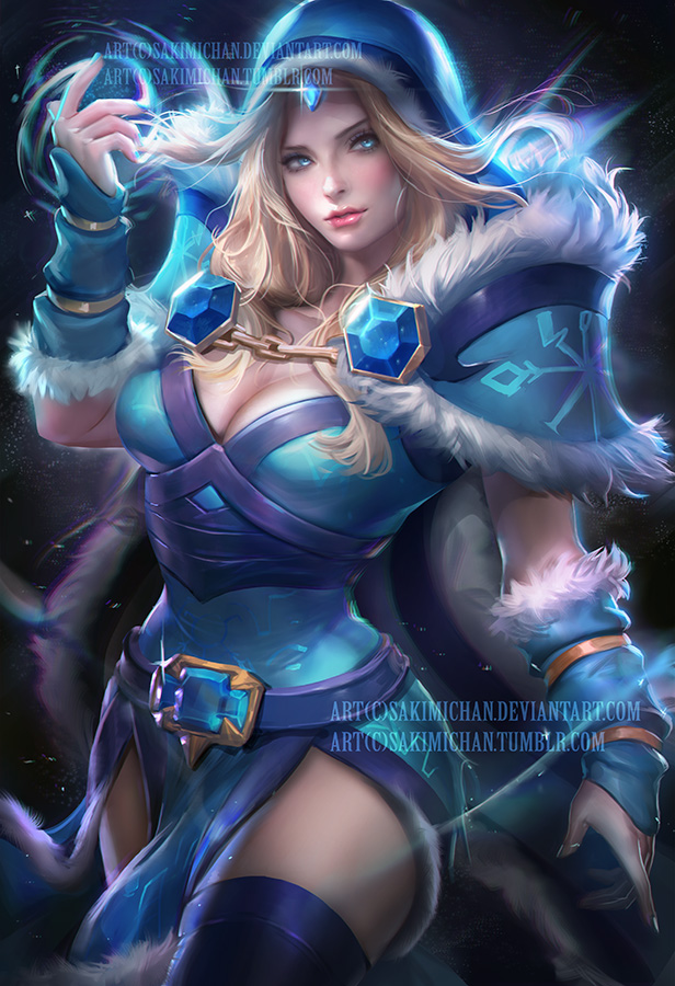 Crystal Maiden Dota 2 Sakimichan Know Your Meme