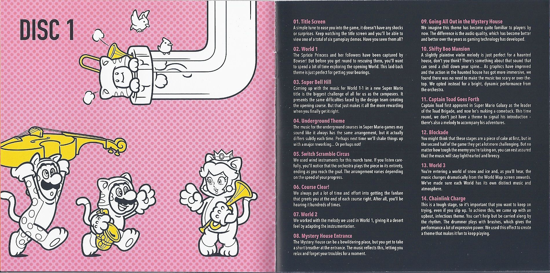 3D World Soundtrack Booklet Song Descriptions   Super Mario